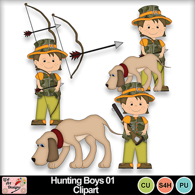 Hunting_boys_01_clipart_preview
