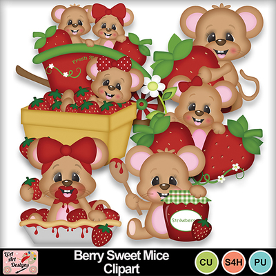Berry_sweet_mice_clipart_preview