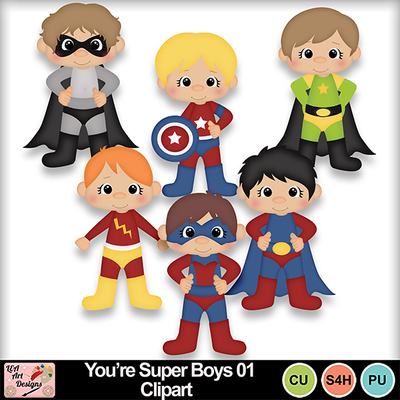 You_re_super_boys_01_clipart_preview