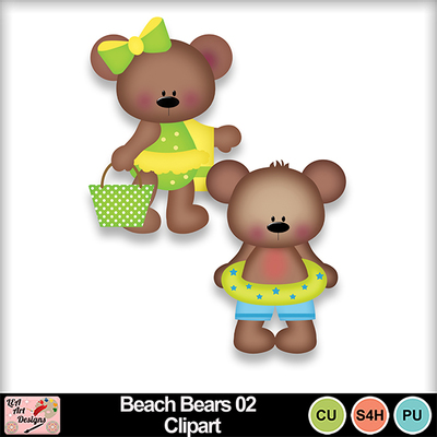 Beach_bears_02_clipart_preview