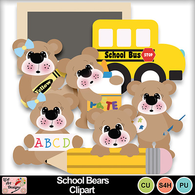 School_bears_clipart_preview
