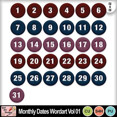 Monthly_dates_wordart_vol_01_preview