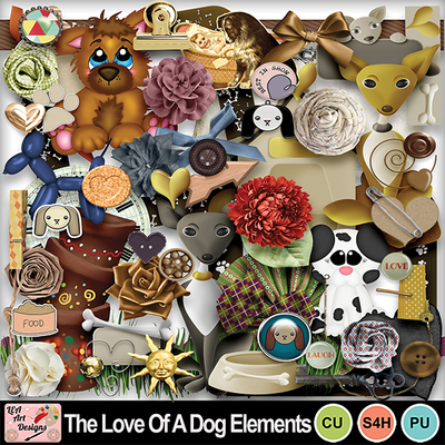 The_love_of_a_dog_elements_preview