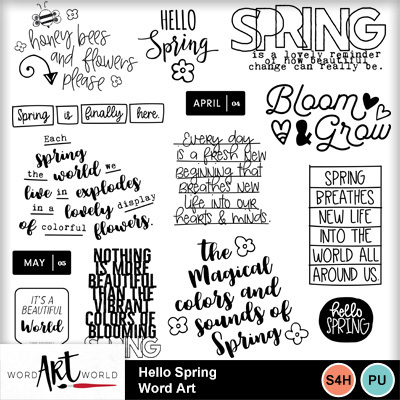 Hello_spring_word_art