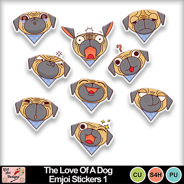 The_love_of_a_dog_emjoi_stickers_1_preview
