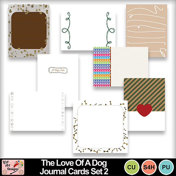 The_love_of_a_dog_journal_cards_set_2_preview