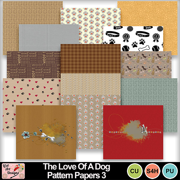 The_love_of_a_dog_pattern_papers_3_preview