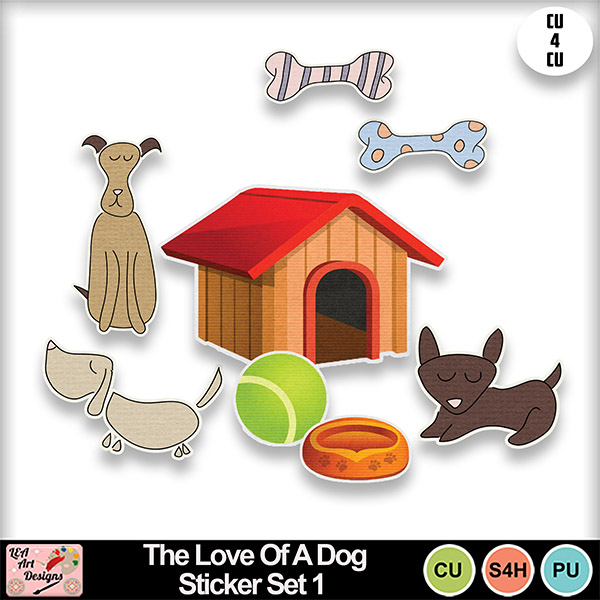 The_love_of_a_dog_sticker_set_1_preview