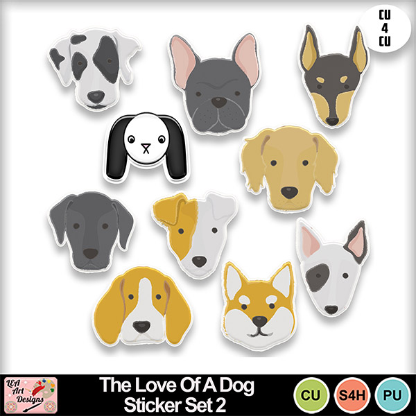 The_love_of_a_dog_sticker_set_2_preview