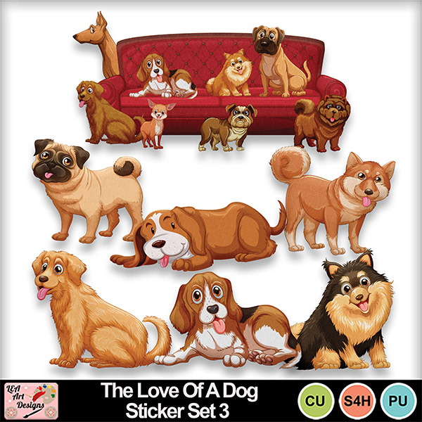 The_love_of_a_dog_sticker_set_3_preview_small