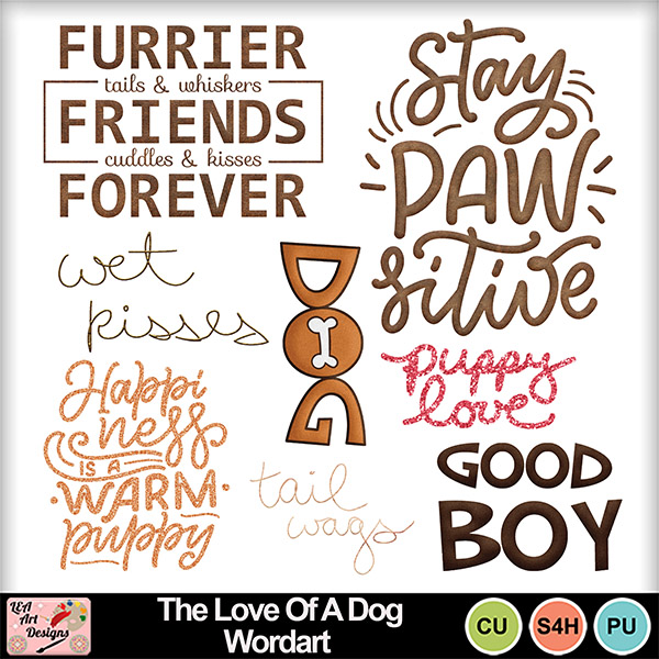 The_love_of_a_dog_wordart_preview