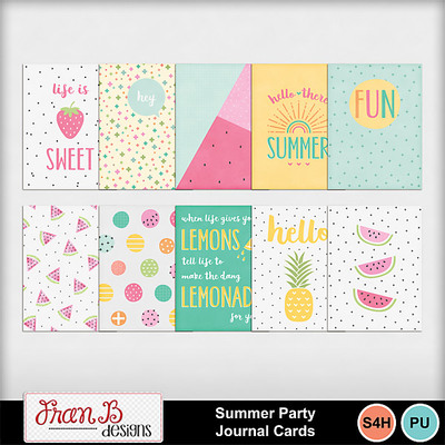 Summerpartyjournalcards