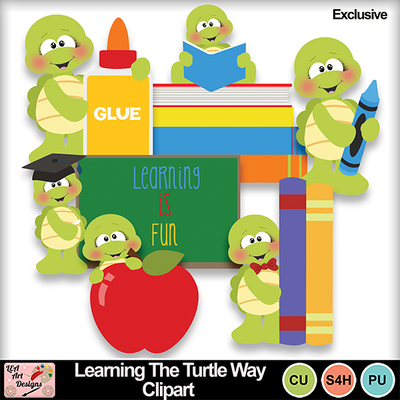Learning_the_turtle_way_clipart_exclusive_preview