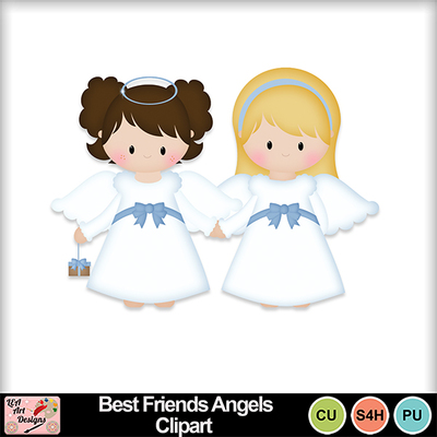 Best_friends_angels_clipart_preview