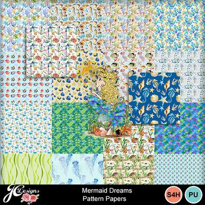 Mermaid_dreams_pattern_papers