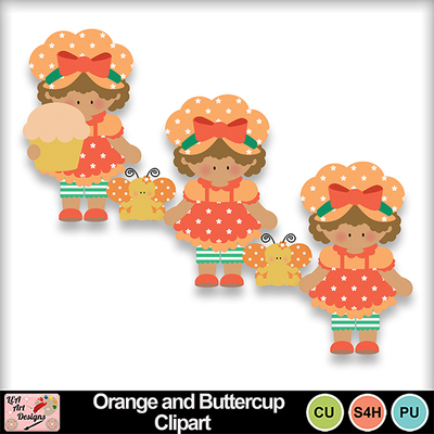 Orange_and_buttercup_clipart_preview