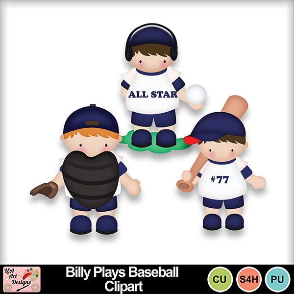 Billy_plays_baseball_clipart_preview