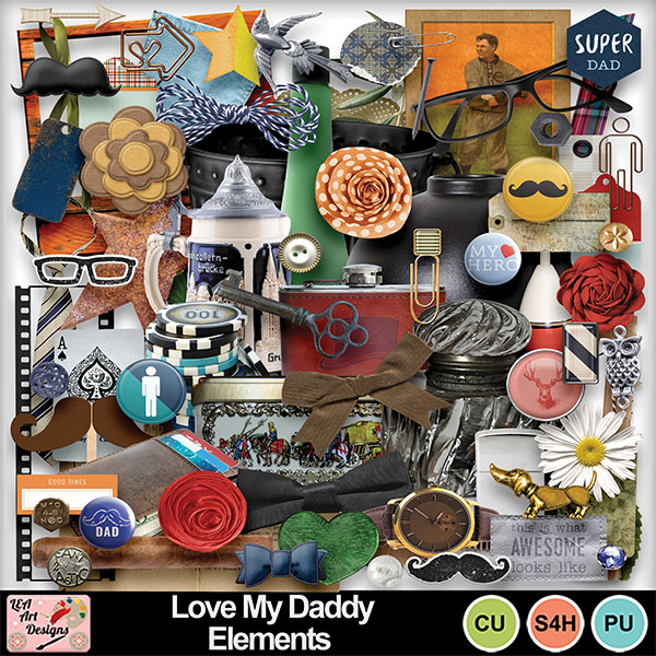 Love_my_daddy_elements_preview