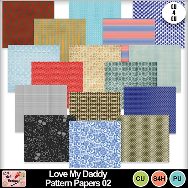 Love_my_daddy_pattern_papers_02_preview