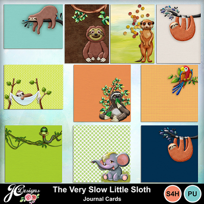 The_very_slow_little_sloth-journal_cards