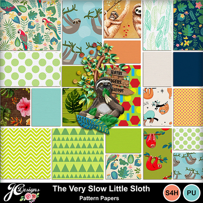 The_very_slow_little_slothpattern_papers