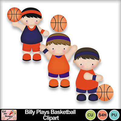 Billy_plays_basketball_clipart_preview