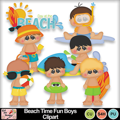 Beach_time_fun_boys_clipart_preview