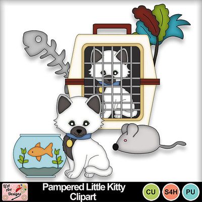 Pampered_little_kitty_clipart_preview