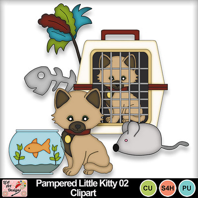 Pampered_little_kitty_02_clipart_preview