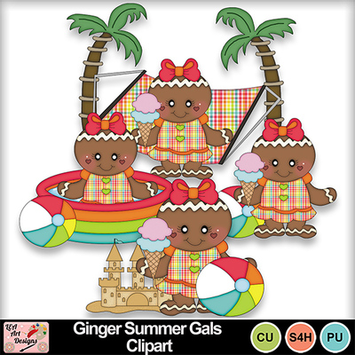 Ginger_summer_gals_clipart_preview