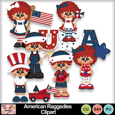 American_raggedies_clipart_preview
