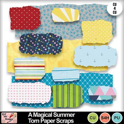 A_magical_summer_torn_paper_scraps_preview