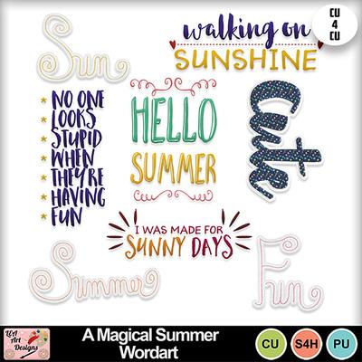 A_magical_summer_wordart_preview