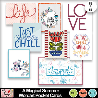 A_magical_summer_wordart_pocket_cards_preview