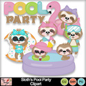 Sloth_s_pool_party_clipart_preview_small