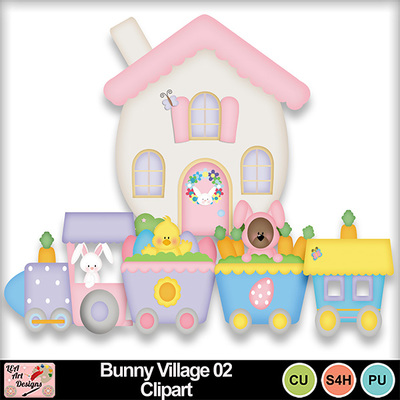 Bunny_village_02_clipart_preview