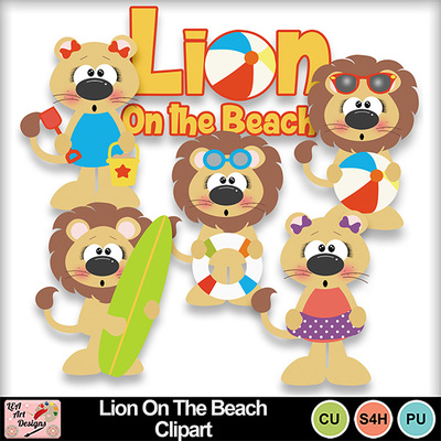 Lion_on_the_beach_clipart_preview