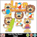 Lion_on_the_beach_clipart_preview_small