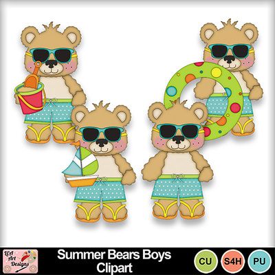 Summer_bears_boys_clipart_preview