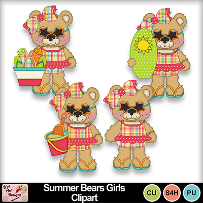 Summer_bears_girls_clipart_preview