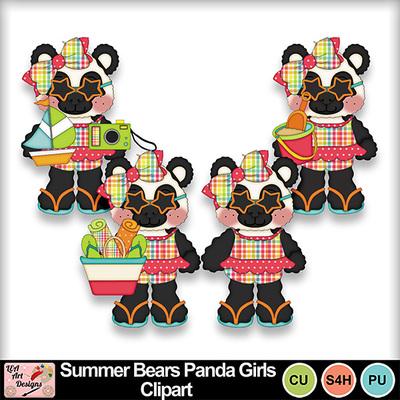 Summer_bears_panda_girls_clipart_preview
