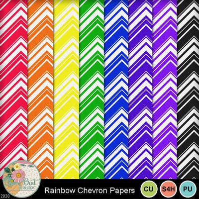 Rainbowchevronpapers