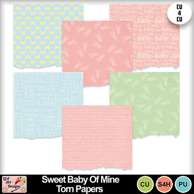 Sweet_baby_of_mine_torn_papers_preview