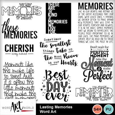 Lasting_memories_word_art