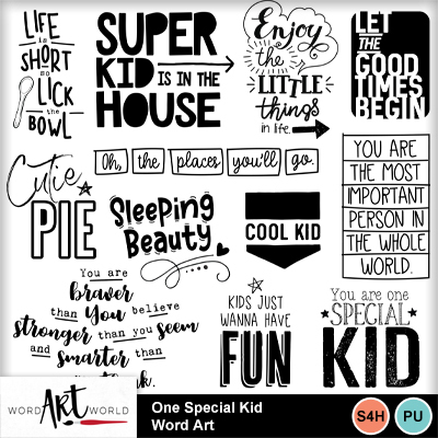 One_special_kid_word_art