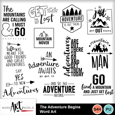 The_adventure_begins_word_art