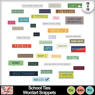 School_ties_wordart_snippets_preview