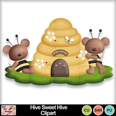 Hive_sweet_hive_clipart_preview