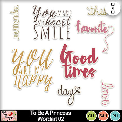 To_be_a_princess_wordart_02_preview