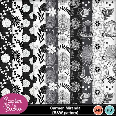 Carmenmiranda_bw_pattern1